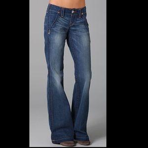 True Religion Sammy Boho Flare Leg Trouser Jeans